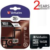 Verbatim 44010 16GB Micro SDHC Class 10 Memory Card | High Capacity | For Digital Camera