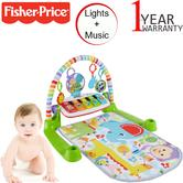 Fisher-Price Kick N Play Gym | Baby's Tummy/Playtime Mat | With Light+Music | Washable | +0 Months