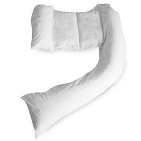 Dreamgenii Pregnancy Support & Feeding Pillow COVER | 100% Cotton & Washbale | White Thumbnail 2