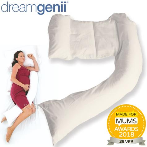 Dreamgenii Pregnancy Support & Feeding Pillow | Comfortable & Spacesaver | Washable Thumbnail 1