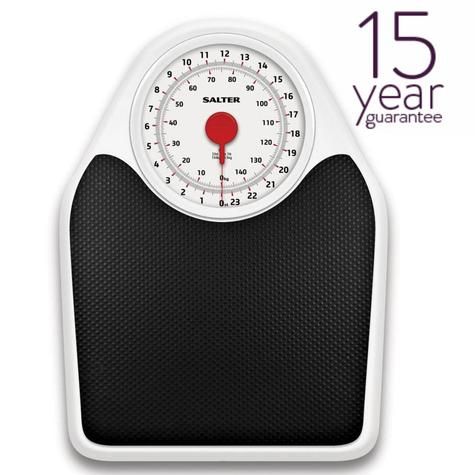 Salter 145 Doctor Style Mechanical Bathroom Weighing Scales | Easy Large Dial | White Thumbnail 1