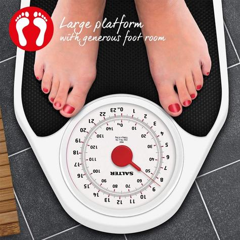 Salter 145 Doctor Style Mechanical Bathroom Weighing Scales | Easy Large Dial | White Thumbnail 7