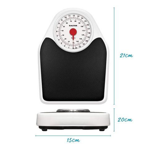 Salter 145 Doctor Style Mechanical Bathroom Weighing Scales | Easy Large Dial | White Thumbnail 8