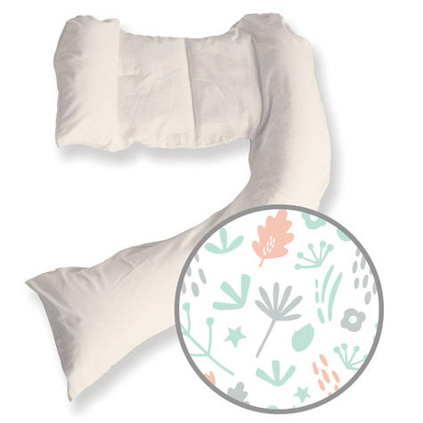 Dreamgenii Pregnancy Support & Feeding Pillow | Comfortable+Spacesaver | Coral,Green Thumbnail 2