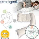 Dreamgenii Pregnancy Support & Feeding Pillow | Comfortable+Spacesaver | Coral,Green