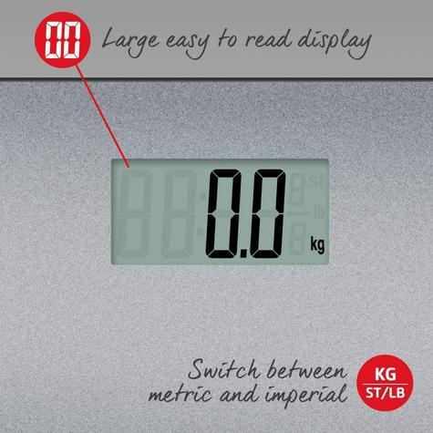 Salter 9046 Electronic Digital Bathroom Weigting Scales | Slimline Design | Silver Thumbnail 7