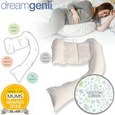 Dreamgenii Pregnancy Support & Feeding Pillow | Comfortable+Spacesaver | Grey Green