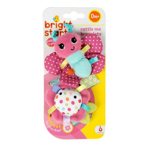 Bright Starts Taggies Pretty in Pink Bracelets | Kids On The Go Fun | Rattle+Crinkle Thumbnail 3