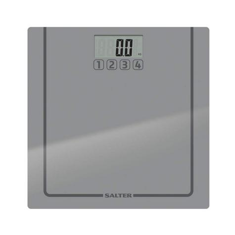 Salter 9201 SV3R Glass Memories Digital Display Bathroom Electronic Scale Silver Thumbnail 3