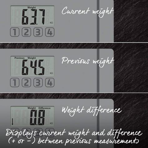 Salter 9201 SV3R Glass Memories Digital Display Bathroom Electronic Scale Silver Thumbnail 4