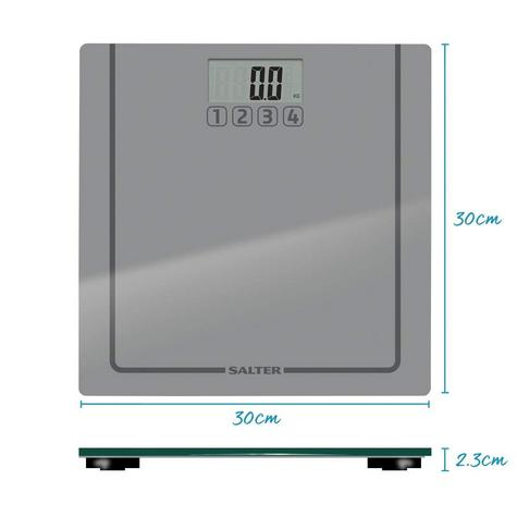 Salter 9201 SV3R Glass Memories Digital Display Bathroom Electronic Scale Silver Thumbnail 8