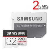 Samsung 32GB PRO Endurance MicroSDHC Memory Card with Adapter | MB-MJ32GA/EU | For Security Cams & Dash Cams
