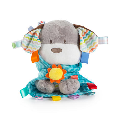 Bright Starts Taggies Sweet Swaddle Pals | Kids Cuddly Puppy Toy With Soft Blankie Thumbnail 5