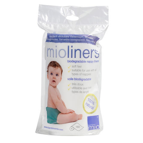 Bambino Mio Mioliner160Pk | Keeping Baby Dry+Comfortable | Used With Reusable Nappy Thumbnail 2
