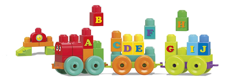 Mega Blocks ABC Learning Train Construction & Building Toys