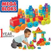 Mega Bloks ABC Learning Train 60pc | Building Bloks | Preschool Toy | Learn Alphabets | +12 Months