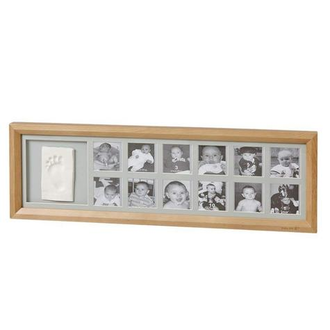 Baby Art First Year Print Frame | 12 Pictures + Baby's Hand Or Foot Print | Giftware Thumbnail 2