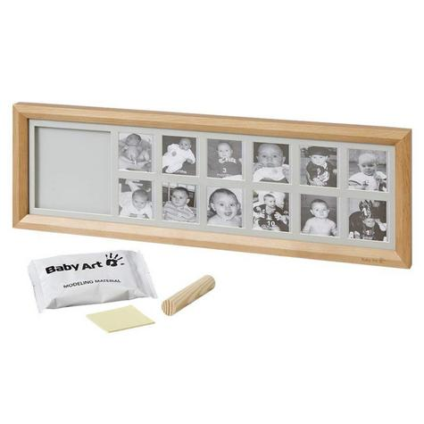 Baby Art First Year Print Frame | 12 Pictures + Baby's Hand Or Foot Print | Giftware Thumbnail 3