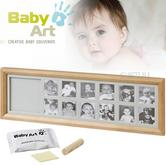 Baby Art First Year Print Frame | 12 Pictures + Baby's Hand Or Foot Print | Giftware