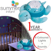 Summer Infant Slumber Buddies Twisting Turtle | Cry Activation Soothes Baby Sleep