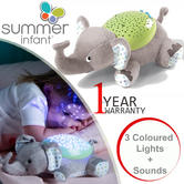 Summer Infant Slumber Buddies Soothing Elephant | Nightlight Projector For BabyKid