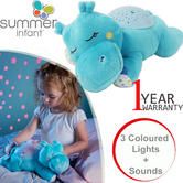 Summer Infant Slumber Buddies Soothing Hippo | Baby/Kid Bedroom Companion | lullabies