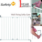 Safety 1st Wall Fixing Extending Metal Gate | Kid's Protection For Stairs | White | +6 Months