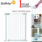 Safety 1st SecureTech Simply Close Extra Tall Metal Gate | Kid's Protection | White