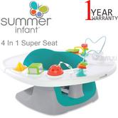 Summer Infant 4 In 1 Super Seat | Kids Floor Time Feeding & Activity Fun With Toy