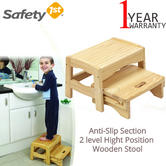 Safety 1st Wooden Step Stool | Anti-Slip Pads | Help Child To Reach The Sink | Max 22kg