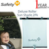 Safety 1st Deluxe Roller Shade 2Pk | Provide Sun Protection To Your Baby | Universal