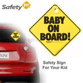 Safety 1st Baby On Board Car Sign | With Suction Cup | Window Attachment For Any Car