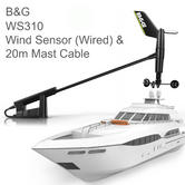 B&G WS310 Wired Wind Sensor with 20m Mast Cable & NMEA2000 Interface|For Yachts/ Boats