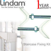 Lindam Staircase Fixing Kit 2Pk | Child Safety Gates & Barriers | Fits Most Banister