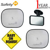 Safety 1st Travel Safety Kit | Includes 2 SunShade,1 Mirror,1 Baby on Board Signal