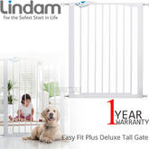 Lindam Easy Fit Plus Deluxe Tall Extra High Pressure Fit Safety Gate 76-82cm | New