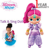 Shimmer and Shine Talk and Sing Doll Shimmer 30cm | Baby's Fun Activity Toy | +3 Years