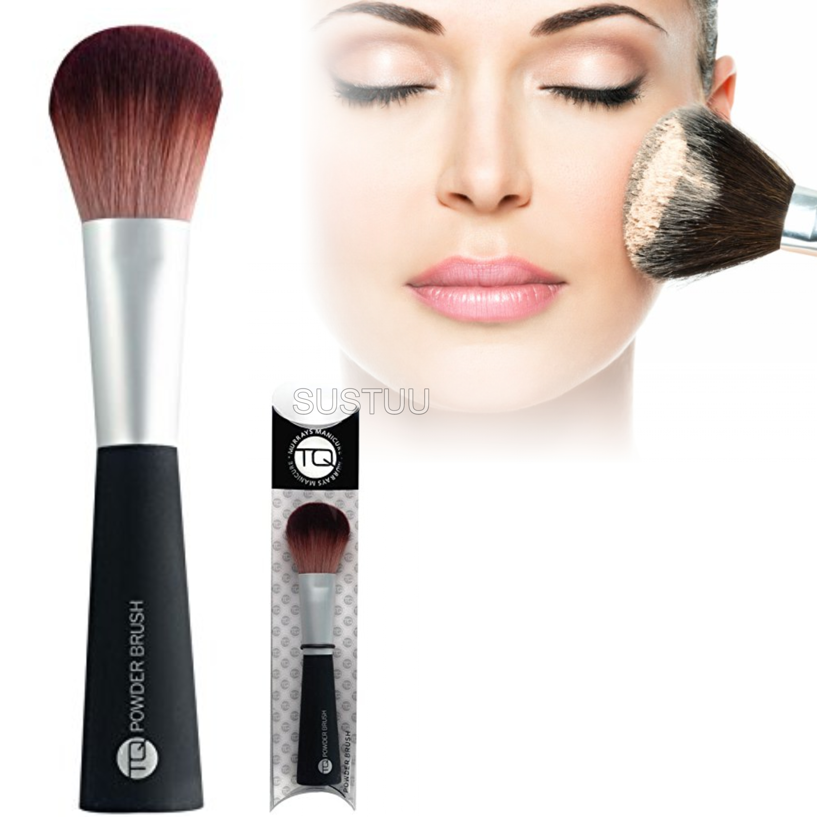TQ Large Powder Brush|for Loose or Compact Powder|Makeup & Blending Foundation|
