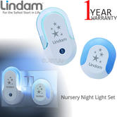 Lindam Nursery Night Light Set | LED Buld,For Use In The Hallway/Landing | BabySafe