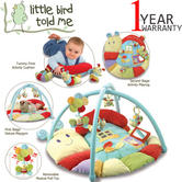 Little Bird Told Me Softly Snuggle Multi Activity Playmat/Gym | Kids TummyTime Fun
