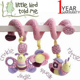 Little Bird Told Me Soft Activity Spiral | Kids Toy Fits To Cot,CarSeat,Pushchair