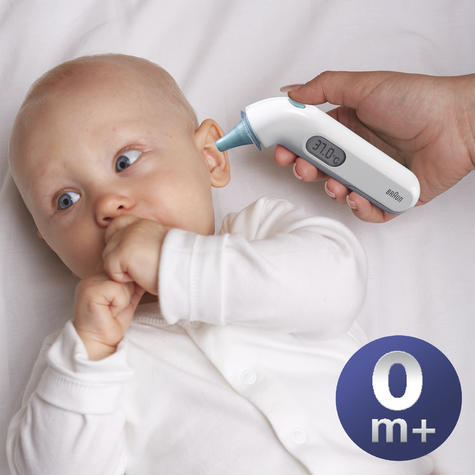 Braun ThermoScan 3 Ear Thermometer | Memory Recall | Large LCD Screen | Baby & Adults Thumbnail 3