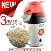 Russell Hobbs 24630 Popcorn Maker | Electric Hot Air | Lid/Spoon | 1300 W | No Oil | White