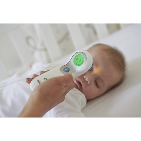 Braun NoTouch & Forehead Thermometer | Colour-Coded Display | 2 Second Fast Reading Thumbnail 4