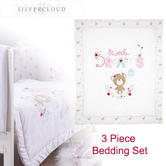 Silvercloud 3pc Bedding Set Sweet Dreams | Baby's Quilt ,Bumper & Fleece Blanket