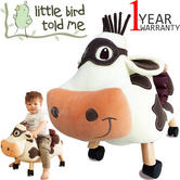 Little Bird Told Me | Moobert Cow-Childs Fun & Friendly Ride On | With Soft Fabrics