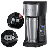 Russell Hobbs Brew & Go Coffee Machine | 400ml Stainless Steel Mug | 24 Hour Timer