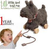 Little Bird Told Me | Scottie Dog- Kids Soft & Pull Along Toy | With Removable Wheel
