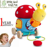 Little Bird Told Me | Baby/Kids Toadstool Pull Along/Soft Caterpillar Activity Toy