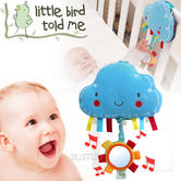 Little Bird Told Me | Kids Fluffy Cloud Musical Pull Toy+Lights | Fixes To Cot,Pram